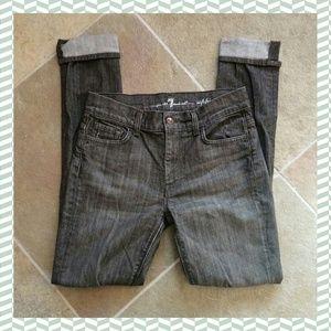 7FAM grey high waist sophie distressed skinny29